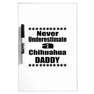 Never Underestimate Chihuahua  Daddy Dry Erase Board