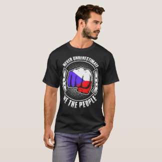 Never Underestimate Czech We The People Tshirt