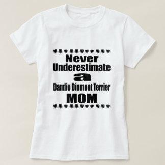 Never Underestimate Dandie Dinmont Terrier Mom T-Shirt
