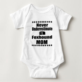 Never Underestimate Foxhound Mom Baby Bodysuit