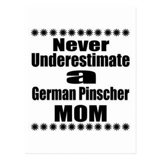 Never Underestimate German Pinscher Mom Postcard