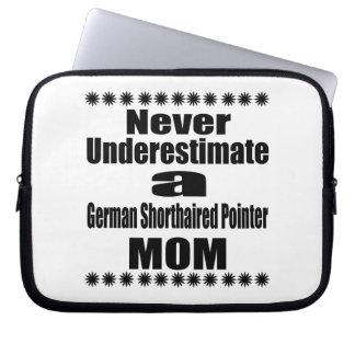 Never Underestimate German Shorthaired Pointer Mom Laptop Sleeve