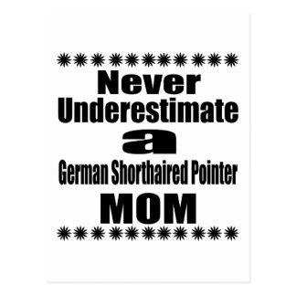 Never Underestimate German Shorthaired Pointer Mom Postcard