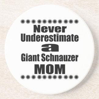 Never Underestimate Giant Schnauzer Mom Beverage Coasters