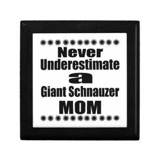 Never Underestimate Giant Schnauzer Mom Gift Boxes