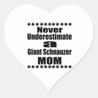 Never Underestimate Giant Schnauzer Mom Heart Sticker