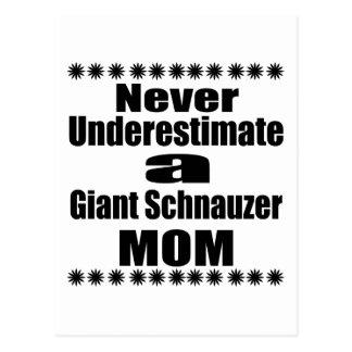Never Underestimate Giant Schnauzer Mom Postcard