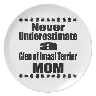 Never Underestimate Glen of Imaal Terrier  Mom Plate