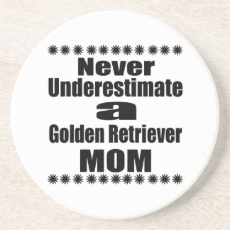 Never Underestimate Golden Retriever Mom Coaster