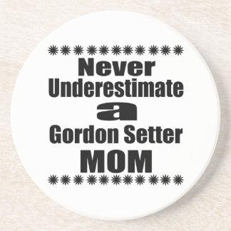 Never Underestimate Gordon Setter  Mom Beverage Coaster