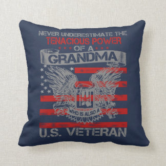 Never underestimate Grandma Throw Pillow