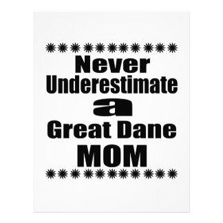 Never Underestimate Great Dane  Mom Letterhead