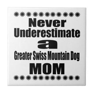 Never Underestimate Greater Swiss Mountain Dog Mom Tile