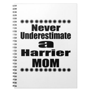 Never Underestimate Harrier Mom Notebook