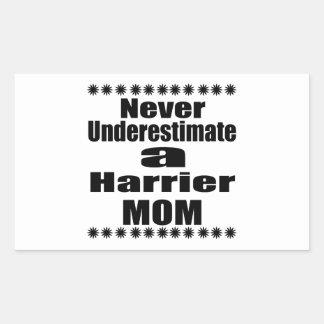 Never Underestimate Harrier Mom Sticker