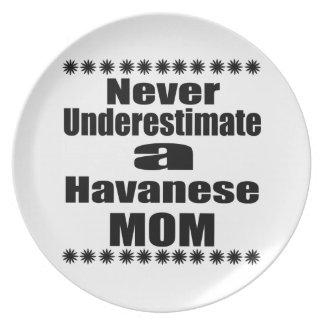 Never Underestimate Havanese Mom Plate