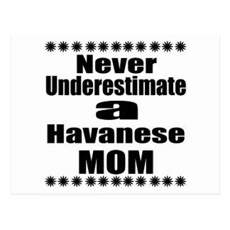 Never Underestimate Havanese Mom Postcard