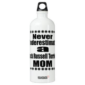 Never Underestimate Jack Russell Terrier  Mom Water Bottle
