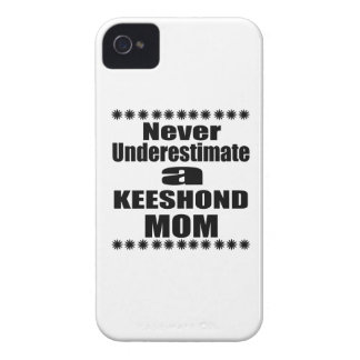 Never Underestimate KEESHOND Mom iPhone 4 Case-Mate Cases