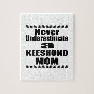 Never Underestimate KEESHOND Mom Jigsaw Puzzle