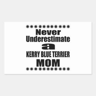 Never Underestimate KERRY BLUE TERRIER Mom Sticker