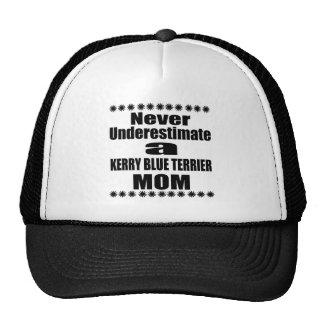 Never Underestimate KERRY BLUE TERRIER Mom Trucker Hat