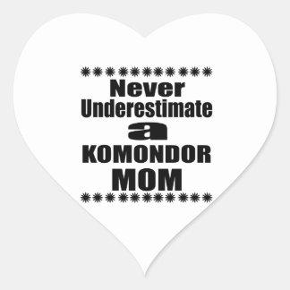 Never Underestimate KOMONDOR Mom Heart Sticker