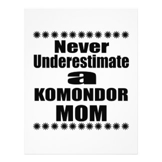 Never Underestimate KOMONDOR Mom Letterhead