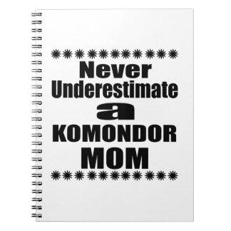 Never Underestimate KOMONDOR Mom Notebooks