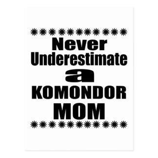 Never Underestimate KOMONDOR Mom Postcard