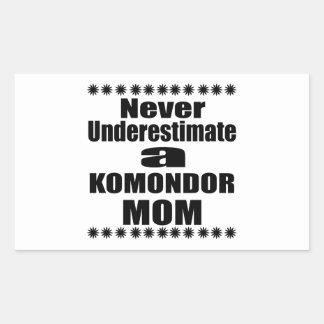Never Underestimate KOMONDOR Mom Sticker