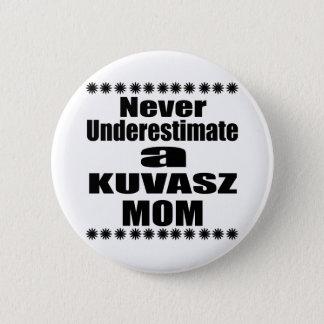 Never Underestimate KUVASZ Mom 2 Inch Round Button