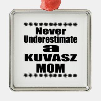 Never Underestimate KUVASZ Mom Metal Ornament