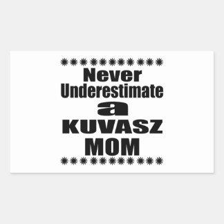 Never Underestimate KUVASZ Mom Sticker