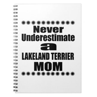 Never Underestimate LAKELAND TERRIER Mom Notebooks