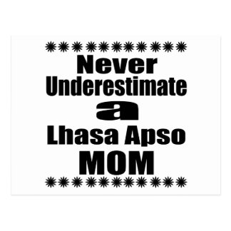Never Underestimate Lhasa Apso  Mom Postcard