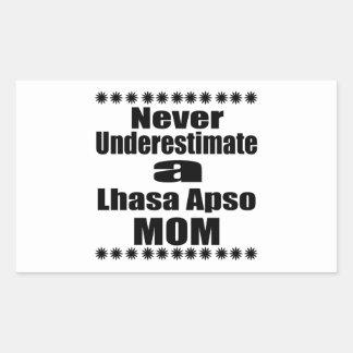 Never Underestimate Lhasa Apso  Mom Sticker