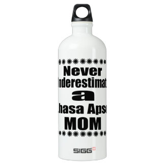Never Underestimate Lhasa Apso  Mom Water Bottle