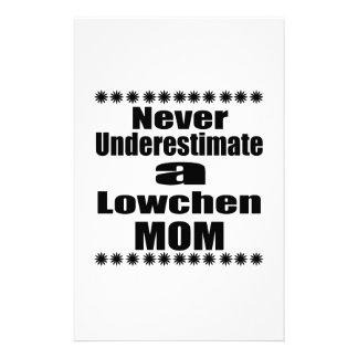 Never Underestimate Lowchen Mom Stationery