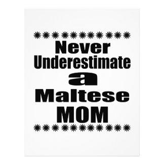 Never Underestimate Maltese Mom Letterhead