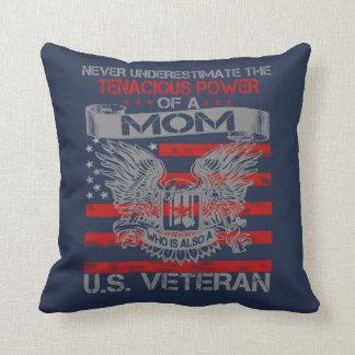 Never underestimate Mom Throw Pillow