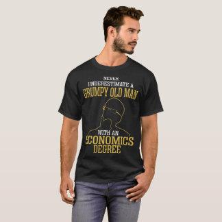 Never Underestimate Old Man Economics Degree Shirt
