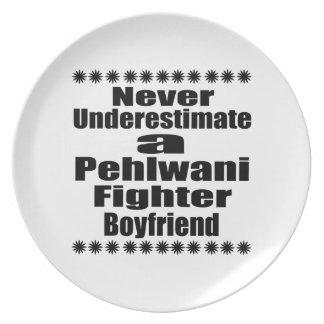 Never Underestimate  Pehlwani Fighter Boyfriend Dinner Plates
