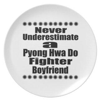 Never Underestimate  Pyong Hwa Do Fighter Boyfrien Dinner Plate
