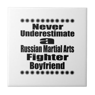Never Underestimate  Russian Martial Arts Fighter Ceramic Tiles