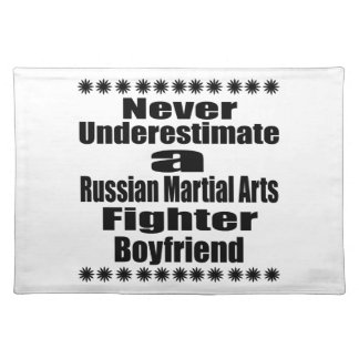 Never Underestimate  Russian Martial Arts Fighter Placemat