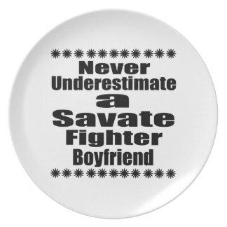 Never Underestimate  Savate Fighter Boyfriend Plate
