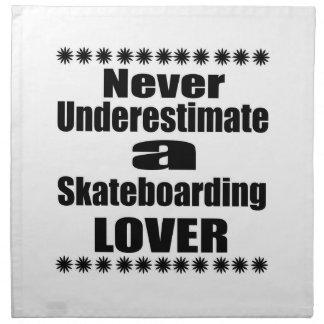 Never Underestimate Skateboarding Lover Napkin
