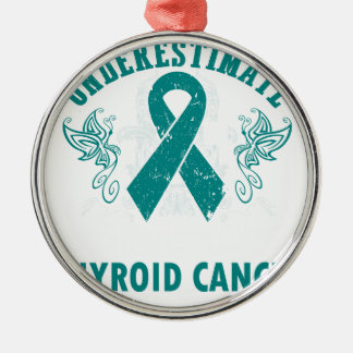Never Underestimate The Strength Of Thyroid Cancer Silver-Colored Round Ornament