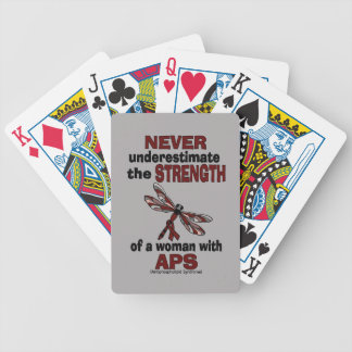 Never Underestimate...Woman/Dragonfly...APS Bicycle Playing Cards